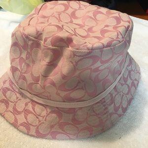 🎉Authentic Pink Coach Monogram Bucket hat